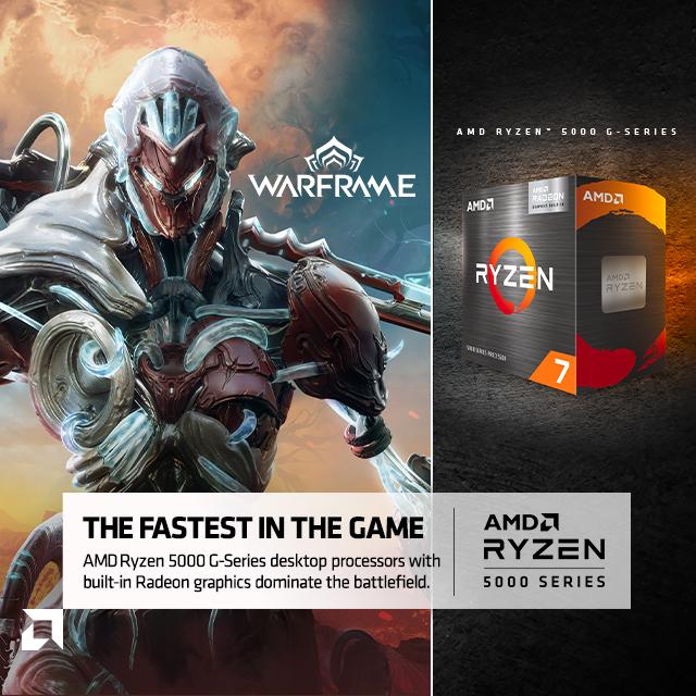 AMD 5000 Gseries Warframe 08.02.2021warframe Banner