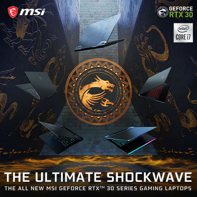 MSI Gaminglaptops 30series 01.25.2021banner