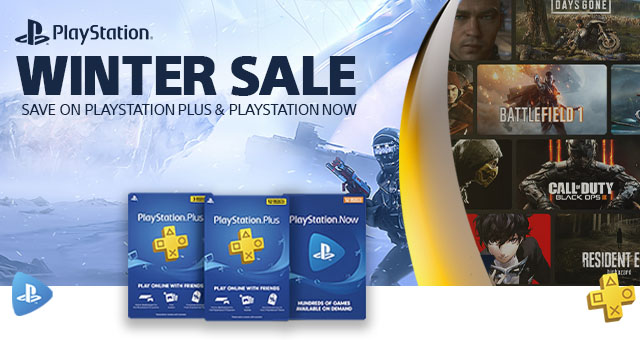 Sony Playstation Digital Card Deals Banner3 Winter