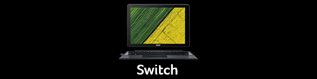 Acer Lap Nav Black Tile Switch