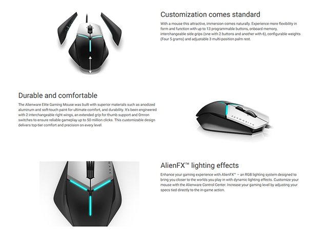 Alienware Elite Mouse Info