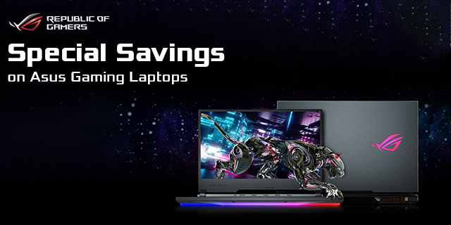 Asus Rog Notebooks Special Savings  Banner 01
