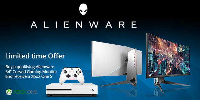 Dell Alienware Monitor Receive Xbox One S Mdf  Banner 01
