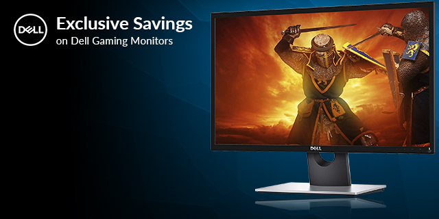 Dell Gaming Monitor Exclusive Savings  Banner 01