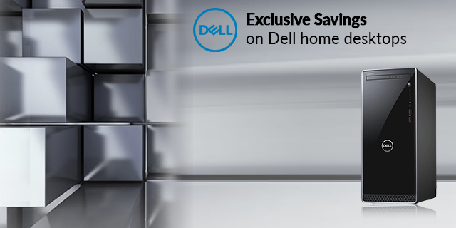 Dell Home Desktops Exclusive Savings  Banner 01