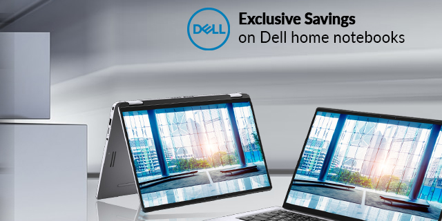 Dell Home Notebooks Exclusive Savings  Banner 01