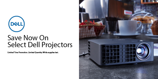 Dell Projectors Promo Save Now Top Banner
