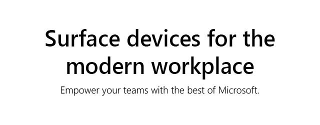 Microsoft Surface Business1 Tile