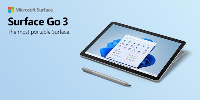Microsoft Surface Go3 LP 09.23.2021banner