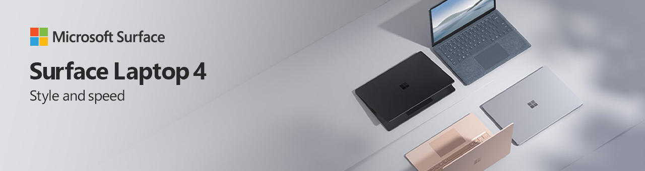 Microsoft Surface Laptop4 Launchday 04.14.2021banner