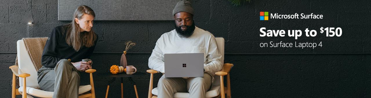 Microsoft Surface Laptop4 Save150 10.08.2021banner