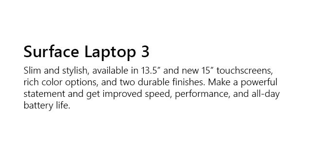 Microsoft Surface Family Laptop3   Tile 01