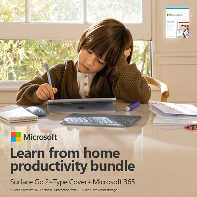 Microsoft Surface Go2 Bundle02  Learnfromhome