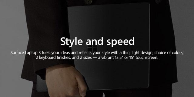 Microsoft Surface Laptop3 General Landing Page   Tile 01