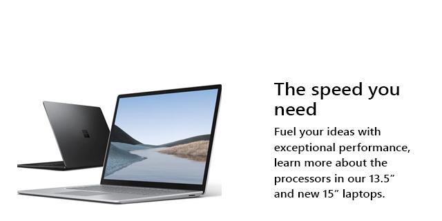Microsoft Surface Laptop3 General Landing Page  Tile 08