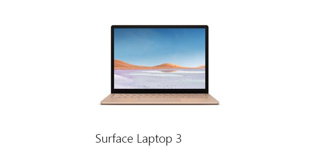 Microsoft Surface Laptop3 Landing Page Navigation   Nav Tile 01