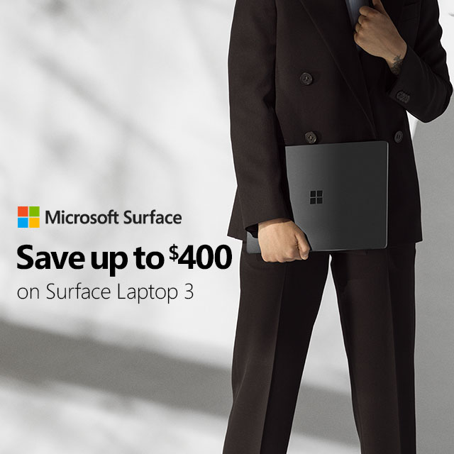 Microsoft Surface Laptop3 Save Up To 300 General  Save400 V5