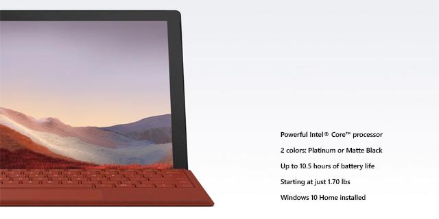 Microsoft Surface Pro7 General Landing Page  Tile 04