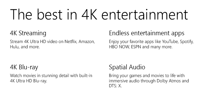 Microsoft Xbox One Landing Page Best In 4k Tile