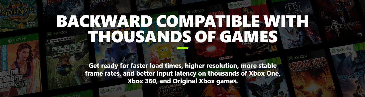 Microsoft Xbox Series X Informational  Backward