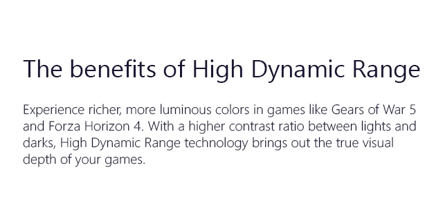 Microsoft Xboxs 2018store HDR
