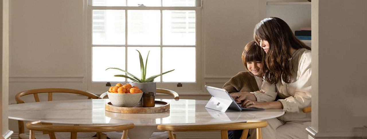 Microsoft Surface Go 2  Woman With Child
