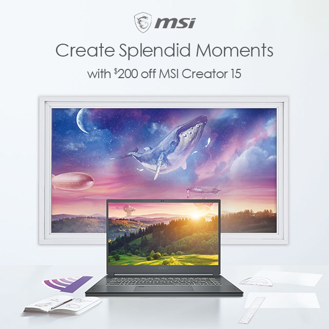 Msi Creator15 Save200 04.20.2021banner