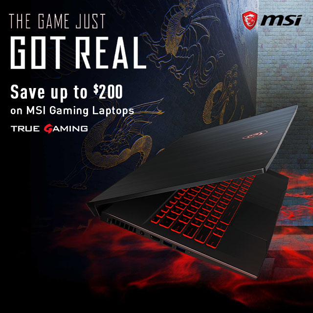 Msi Gaming Laptops Save Up To 300  Dragonbanner