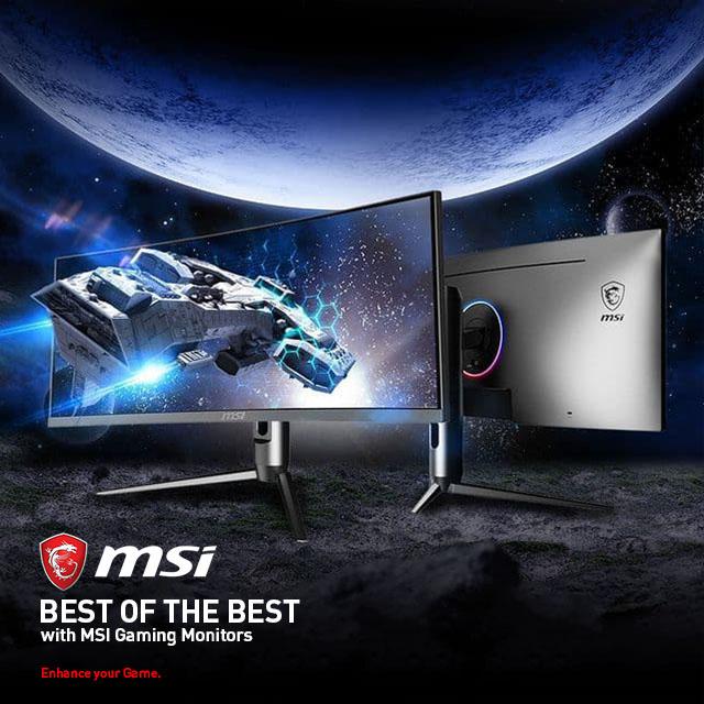 Msi Gaming Monitors Home Page   Banner 01
