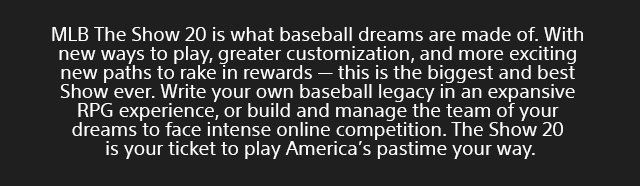 Sony Playstation Mlb Theshow 20 Landing Page   Tile 02