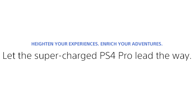 Sony Playstation 4 Pro Landing Page  Tile 01