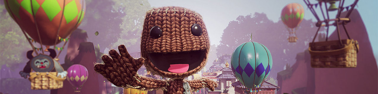 Sony Playstation Games Landing Page  Sackboy