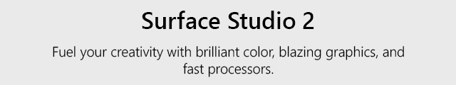 Surface Studio2 Landing Page Header Studio Tile