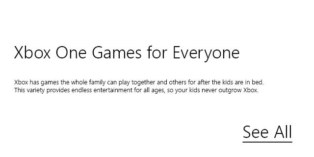 Xbox Store Games Blurb