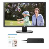 """HP 24uh 24"""" Monitor Black + Microsoft Surface Dock 2 Black + Microsoft 365 Personal 1 Year Subscription For 1 User"""