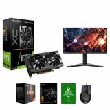 """EVGA GeForce RTX 3060 12GB GDDR6 Graphic Card + EVGA SuperNOVA 650W G5 80 Plus Gold Power Supply + EVGA X17 Gaming Mouse+ AMD Ryzen 7 5800X Processor + Lenovo G27Q 27"""" QHD (2560 x 1440) IPS Gaming Monitor + Xbox Game Pass For PC (Email Delivery)"""