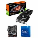 Gigabyte GeForce RTX 3080 GAMING OC 10GB GDDR6X LHR Graphic Card + Intel Core i7-11700K Unlocked Desktop Processor + Gigabyte Z590 AORUS ELITE AX Ultra Durable Desktop Motherboard