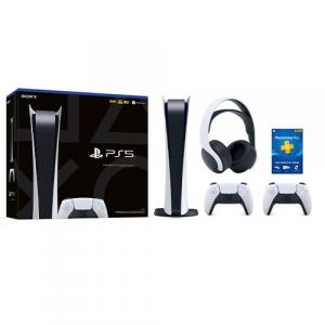 PlayStation 5 Digital Edition + DualSense Wireless Controller + PULSE 3D Gaming Headset + PlayStation Plus 12 Month Membership (Email Delivery)
