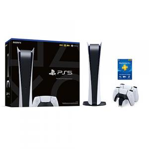 PlayStation 5 Digital Edition + DualSense Wireless controller + DualSense Charging Station + PlayStation Plus 12 Month Membership (Email Delivery)