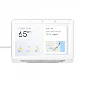 "Google Nest Hub 7"" Touchscreen w/ Smart Home Assistant Chalk"