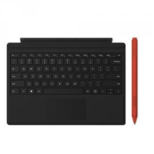 Microsoft Type Cover for Surface Pro Black + Microsoft Surface Pen Poppy Red