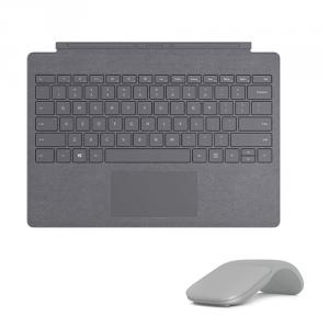 Microsoft Surface Pro Signature Type Cover Platinum + Microsoft Surface Arc Touch Mouse Platinum
