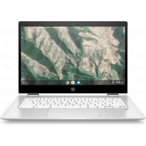 "HP Chromebook x360 14"" Touchscreen Laptop Intel Celeron 4GB RAM 32GB eMMC Ceramic White"
