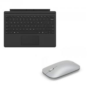 Microsoft Type Cover for Surface Pro Black+Surface Mobile Mouse Platinum