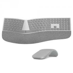 Microsoft Surface Ergonomic Keyboard + Surface Arc Touch Mouse Platinum