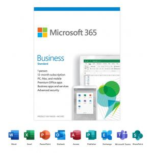 Microsoft 365 Business Standard   12-Month Subscription, 1 person  Premium Office Apps   1TB OneDrive cloud storage   PC/Mac Keycard