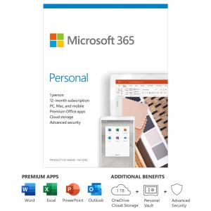 Microsoft 365 Personal 1 Year Subscription For 1 User