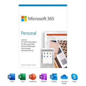 Microsoft 365 Personal | 12-Month Subscription, 1 person| Premium Office Apps | 1TB OneDrive cloud storage | PC/Mac Keycard