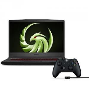 """MSI Bravo 15 15.6"""" Gaming Laptop Ryzen 7-4800H 8GB RAM 512GB SSD 120Hz RX5500M 4GB + Xbox Wireless Controller and Cable for Windows"""