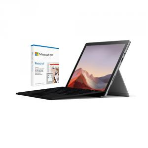 """Microsoft Surface Pro 7 VALUE BUNDLE 12.3"""" Intel Core i5 8GB RAM 128GB SSD Platinum+Surface Pro Sig Type Cover+Microsoft 365 Personal 1Yr For 1 User"""